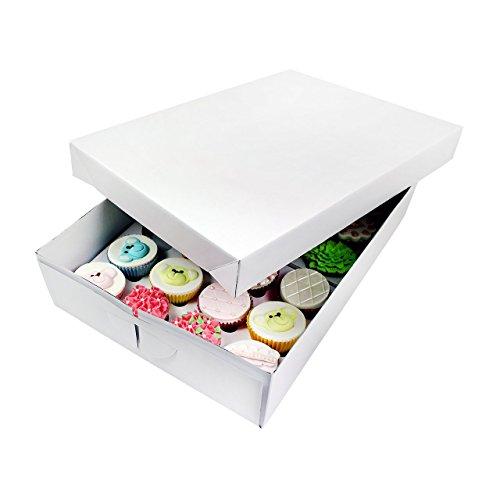 PME CBO907 Cupcake Boîte pour 24 gâteaux, Blanc, 43 x 31 x 9 cm