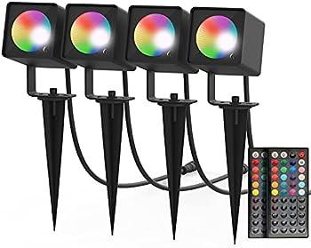 4-Pack Saturndock Landscape Lights with Low Voltage