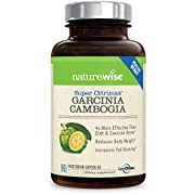 NatureWise Clinically Proven Super CitriMax Garcinia Cambogia with 4x Greater Fat Burning & Weight Loss Plus Appetite Control 500 mg (Packaging May Vary) [1 Month Supply - 90 count]