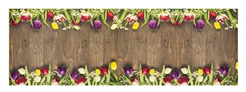 Tappeto Cucina Decor passatoia Varie Misure Antiscivolo Disegno CASA Digital OlivoShop (Garden, 50X80)