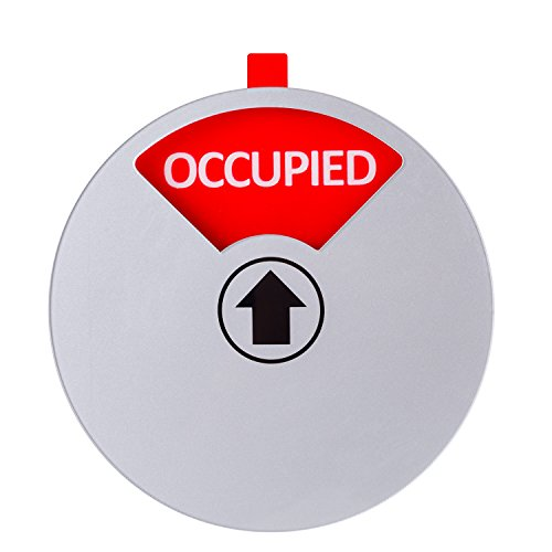 Kichwit Privacy Sign for Offices or Homes - Do Not Disturb Sign, Restroom Sign, Office Sign, Conference Sign, Vacant Sign, Occupied Sign - Tells Whether Rooms are Vacant or Occupied, 5 Inch, Silver