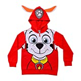 Nickelodeon Paw Patrol Boy's Marshall Character Hoodie Jacket with Ears, Red, Size 4