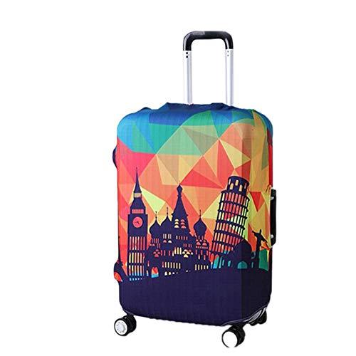 Minsa Funda protectora para equipaje resistente al agua y al polvo, lavable, para maleta de viaje, diseño de World Travel Modern City para equipaje de 22/27/30/32 pulgadas