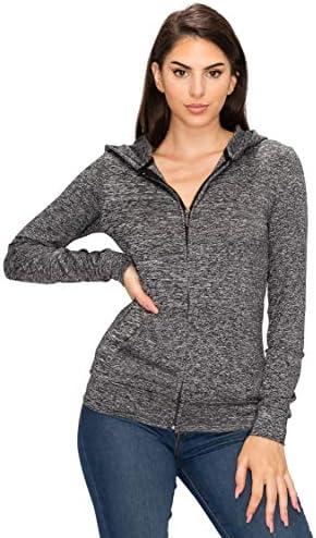 Blush Women s Full Zip Hoodie Jacket Lightweight Long Sleeve Hooded Zip Up Pullover Sweatshirts product image