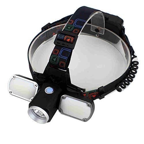 CHUANG TIAN Linterna Frontal LED, Faro Super Brillante con 4 Modos, Foco LED, Impermeable, Linterna Ajustable para Escalada, Ciclismo, Pesca, Senderismo, Camping