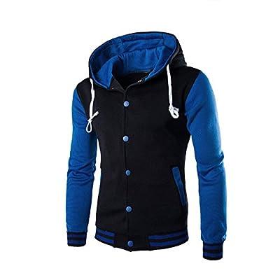 ZEFOTIM Men Coat Jacket Outwear Sweater Winter Slim Hoodie Warm Hooded Sweatshirt(XXXXX-Large,Blue)