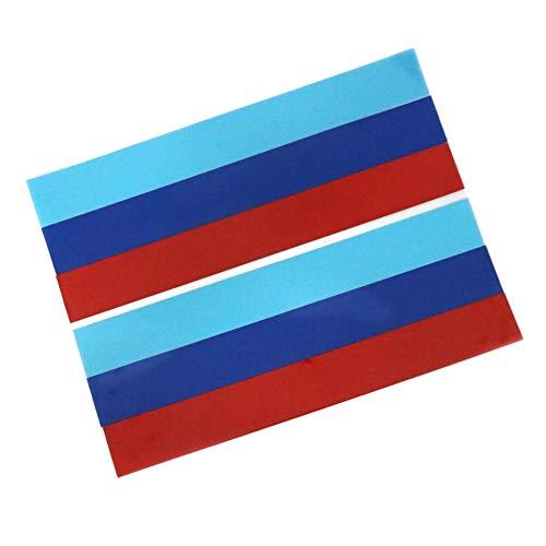 2 PCS 15×5.5cm/ 6'×2.2' M Decal 3 Colors Stripe Vinyl Graphic Sticker for BMW Racing Car Body Mirror Cover Bumper Hood Roof Trunk Door Fenders M2 M3 M4 M5 M6 X5M X6M