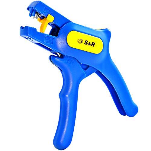 S&R Pinza Spelafili Automatica 0,2-6 mm² Spelacavi Professionale Rapida da 0,2-6 mm² AWG 10-24