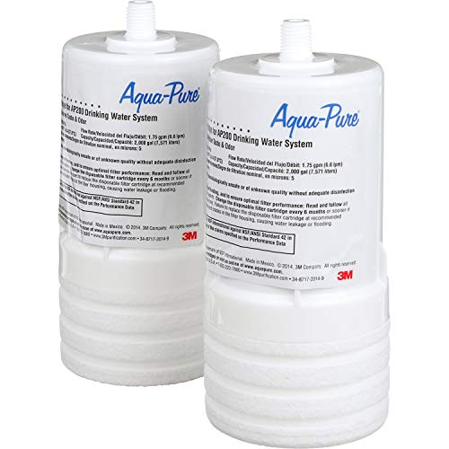3M Aqua-Pure Under Sink Replacement Water Filter Cartridge AP217, for use with AP200 system, Full Flow