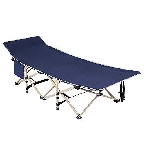 Dancal Cama Plegable Camping, el Metro Cuadrado de múltiples Funciones de 10 pies Catre con Carry Bolsillo Lateral Bolsa de Viaje de Dormir al Aire Libre Pesca, 190 * 67 * 37