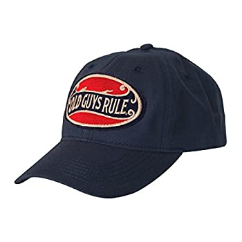 OLD GUYS RULE Hat Baseball Cap for Men | Better Oval | for Dad Husband Grandfather | Navy