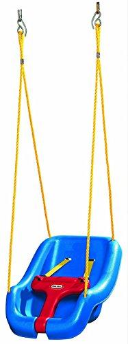 little tikes Snug 'n Secure Columpio 2-en-1 Juego para Uso al Aire Libre Juegos de jardín para niños Fomenta el Juego Activo Edad de 9 Meses a 4 años Azul