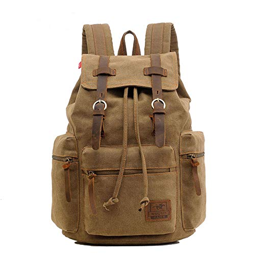 GYCZCCanvas Tasche Retro Herrentasche Rucksack Computer Tasche Studententasche eine Vielzahl von Farben optional braun 15 Zoll