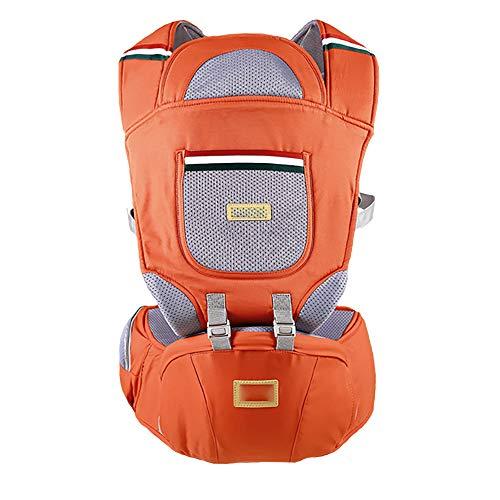 Porte-bébé, pour bébé devant et dans le dos Porte-bébé à bandoulière réglable et respirant Porte-bébé ergonomique-Orange