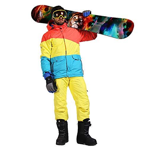 Traje de esquí para Hombres Chaqueta de esquí cálida Pantalones de Snowboard Pantalones...