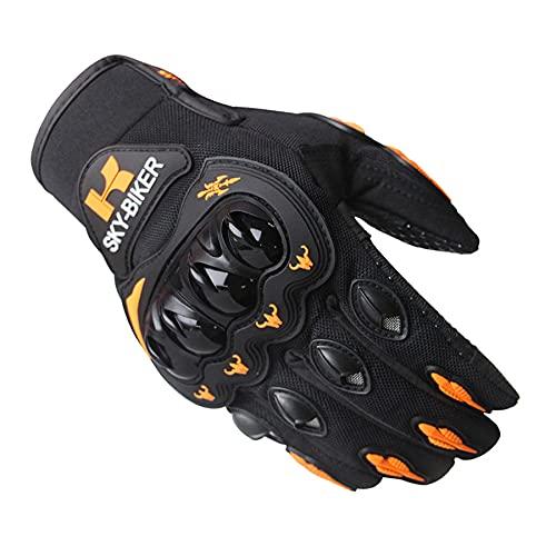 Guantes Protectores para Deportes al Aire Libre, Carreras de Motos de Cross-Country, Bicicletas, naranja-M-B83
