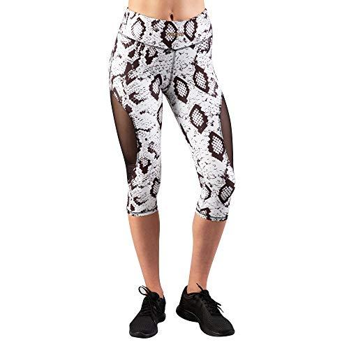 Prozis 134 X-Sense Capris Leggings, Halvemaanslangendesign, maat M, wit/zwart