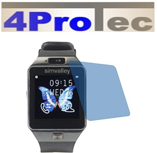 4ProTec I 2X GEHÄRTETE ANTIREFLEX matt Schutzfolie für simvalley Mobile PX-4057 Bildschirmschutzfolie