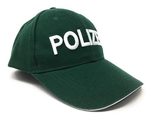 DDS Kinder Baseball Polizeimütze - Polizei Cap für Kostüm zu Fasching BZW. Karneval | Basecap Mütze mit hochwertiger Aufschrift Polizei | Cape verstellbar mit Klettverschluss