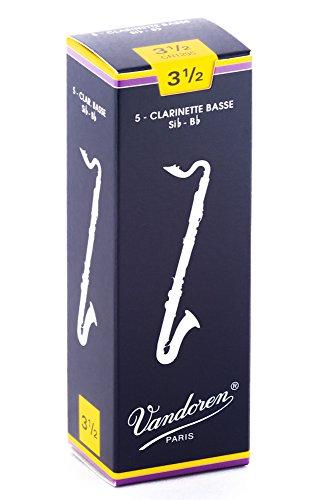Vandoren CR1235 - Caja de 5 cañas para clarinete bajo