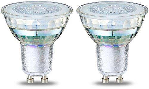 AmazonBasics Lot de 2 spots LED 4W (équivalent 50W) Culot GU10 Filament Transparent