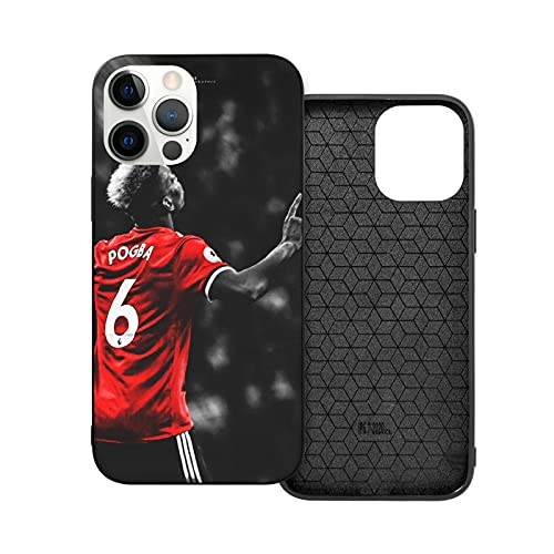 Jinfugongmao Compatibile con iPhone 12/11 PRO Max 12 Mini SE X/XS Max XR 8 7 6 6s Plus Custodie Pogba United Paul Manchester Nero Custodie per Telefoni Cover