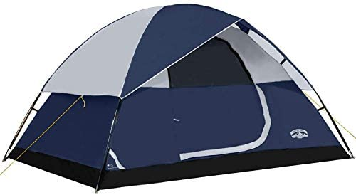 Pacific Pass 4 Person Family Dome Tent with Removable Rain Fly Easy Set Up for Camp Backpacking product image