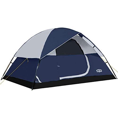 Pacific Pass - Tienda de campaña portátil para 4 Personas, diseño de cúpula, Color Azul Marino