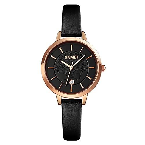 KLFJFD Reloj De Cuarzo Resistente Al Agua con Cinturón Fino Y Fecha Simple para Mujer, Reloj De Moda para Regalo Informal Creativo para Estudiantes