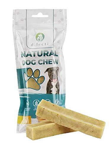 Prodotti da masticare naturali per cani - delizia per cani di lunga durata e molto gustosa! Gli snack per cani sono senza OGM o glutine, gli snack per cani sono inodori! (set da 2, taglia L)