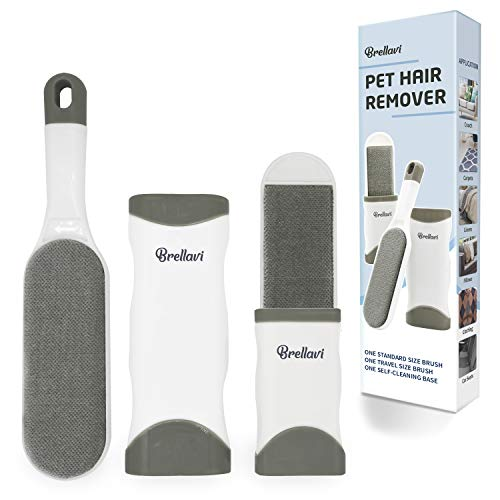 Brellavi Pet Hair Remover, Dog Hair Remover, Cat Hair Remover, No Refills and No Waste, Upgraded...