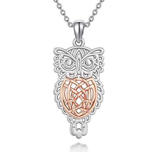 MISTBEE Celtic Owl Necklace for Women 925 Sterling Silver Celtic Jewelry Owl Pendant Necklaces