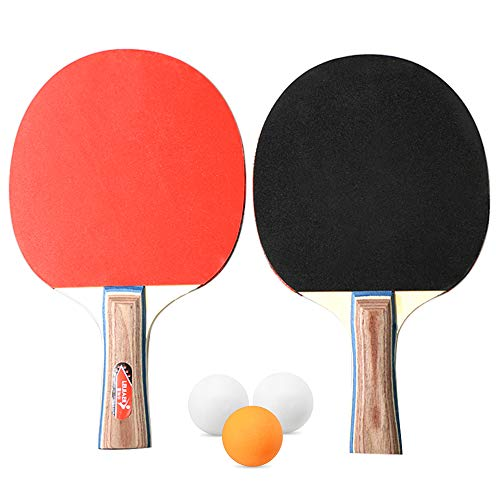 Review Walmeck- Table Tennis 2 Player Set 2 Table Tennis Bats Rackets with 3 Ping Pong Balls for Sch...