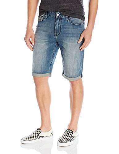 GUESS Men's Slim Denim Short in, Binding Blue Wash, 40