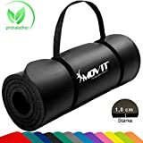MOVIT Tapis de Gymnastique Mat de Yoga sans phtalate Fitness Pilates/Sport/Gym SGS/Sol testé, Taille 183cm x 60cm, très épais...