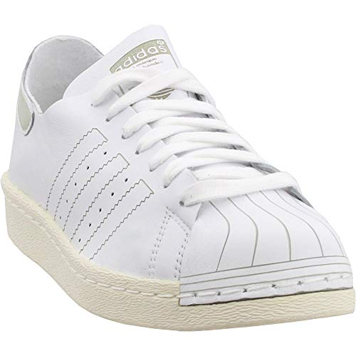 adidas Mens Superstar 80s Decon Casual Sneakers, White, 11