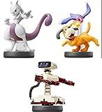 Amiibo 【Mewtwo【Duck Shoot】【Robot】 (3Piece Set)〔Super Smash Bros. Brawl Series〕for Nintendo Wii U, Nintendo 3DS JAPANEASE Game