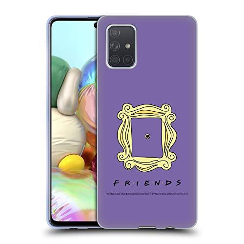 Head Case Designs Licenza Ufficiale Friends TV Show Spioncino Cornice Iconico Cover in Morbido Gel Compatibile con Samsung Galaxy A71 (2019)