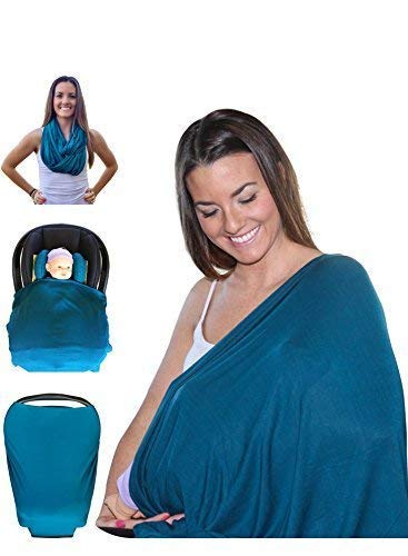 Fantastic Deal! Mom and Baby Nursing Cover Scarf Can Use as Baby Car Seat Covers With Baby Bib - Dar...