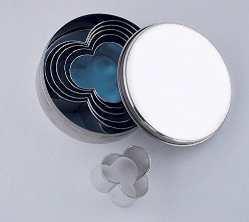 ITALO OTTINETTI Set 6stampini per Impasto a Forma di Fiore, Metallizzato, Taglia Unica