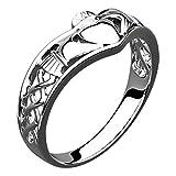 UPCO Jewellery Anillo Claddagh de Wishbone de Plata esterlina, Símbolo de...