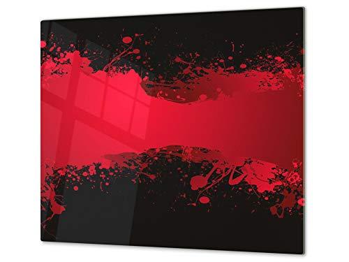 Concept Crystal Tagliere in Vetro temperato – Proteggi-Piano di Lavoro e spianatoia – Copri-Piano Cottura – Pezzo Unico (60x52cm) o Due Pezzi (30x52cm ognuno); D01 Serie Astratta: Arte Astratta 49