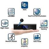 XJYA Mini Caméra sans Fil Réveil WiFi HD 1080 P Enregistreur Horloge De Bureau...