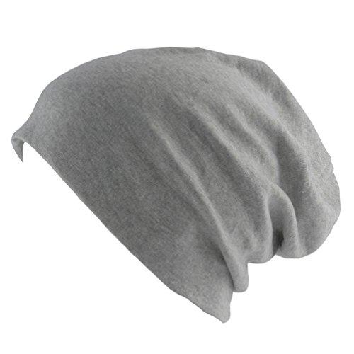 Oblique-Unique® Long Beanie XXL Mütze Slouch Trend Damen Herren (Heather Grey)
