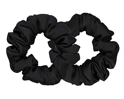 100% pura seta Charmeuse Scrunchy – Cravatte per capelli – Scrunchies per capelli – Scrunchies in seta per la cura dei capelli morbida (blu)