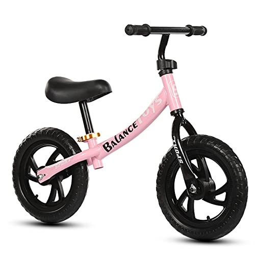 LLF Bicicletas sin Pedales, Bicicleta De Equilibrio para Niños para Niños GIRS 2 3 4 5 Años Sin Pedaleo Pedal Balance De Equilibrio Deportivo Bicicleta para Niños Pequeños(Color:Rosa)