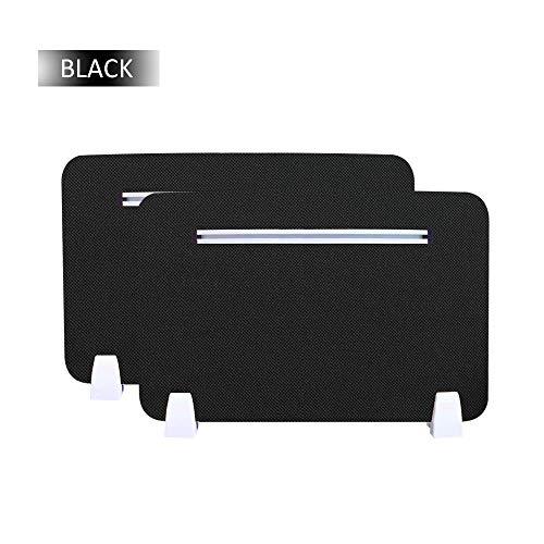 Ahmi 2 Stück Premium Schreibtisch-Trennwand Akustische Trennwand Visuelle Ablenkungen 30,8 x 50,8 cm Büro Privatsphäre Trennwand für Büro Schule schwarz