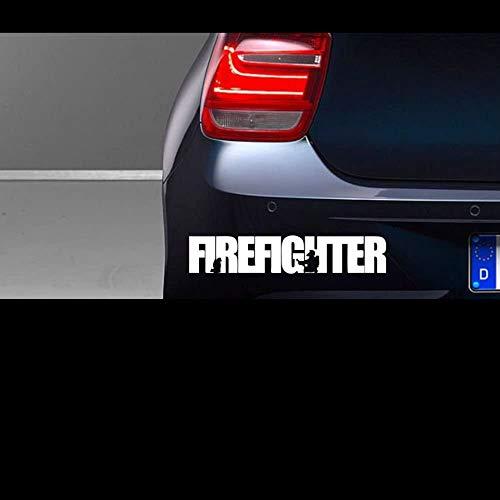myrockshirt Firefighter ca. 20 cm Aufkleber,Sticker,Autoaufkleber,Heckscheibe,Lack,Auto,Feuerwehr,Rettungsdienst,Retter + Bonus Test