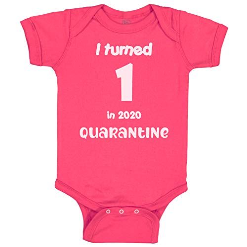 Cute Rascals Baby Bodysuit I Turned 1 in 2020 Quarantine Birthday Year Old First Cotton