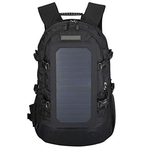 CUHAWUDBA zonne-rugzak met afneembaar zonnepaneel, multifunctioneel, wandelen, schoudertas voor smartphones, tablets, GPS en GoPro